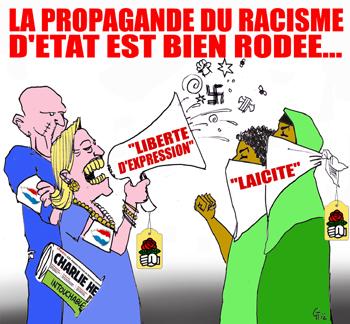 Non aux provocations racistes islamophobes sous couvert de